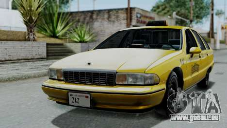 Chevrolet Caprice 1991 Taxi pour GTA San Andreas