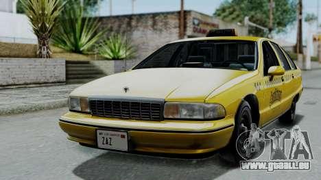 Chevrolet Caprice 1991 Taxi pour GTA San Andreas