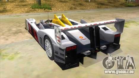 Audi R10 pour GTA San Andreas sur la vue arrière gauche