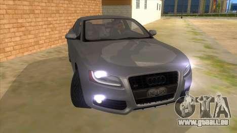 Audi S5 Sedan V8 pour GTA San Andreas vue arrière