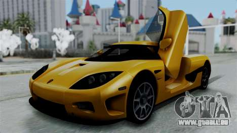 Koenigsegg CCXR 2013 pour GTA San Andreas
