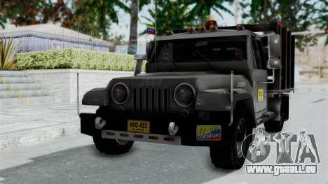 Jeep con Estacas Stylo Colombia für GTA San Andreas