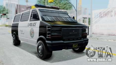 GTA 5 Declasse Burrito Police Transport IVF für GTA San Andreas