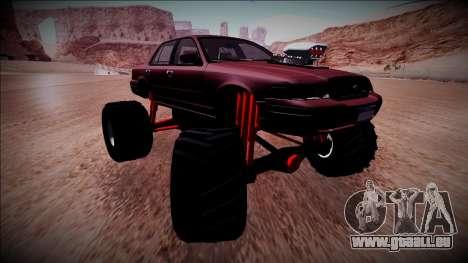 2003 Ford Crown Victoria Monster Truck für GTA San Andreas zurück linke Ansicht