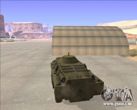 BRDM-2ЛД pour GTA San Andreas sur la vue arrière gauche