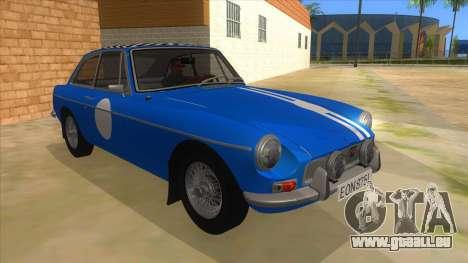 Richard Hammond MGB GT Top Gear für GTA San Andreas Rückansicht