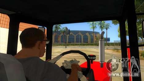 Massley Ferguson Tractor pour GTA San Andreas vue intérieure