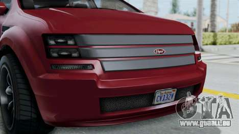 GTA 5 Vapid Radius IVF pour GTA San Andreas vue intérieure