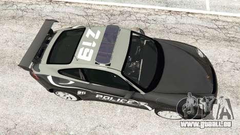 GTA 5 Porsche 911 GT3 RS Pursuit Edition vue arrière