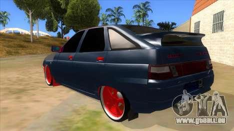 VAZ 2112 Hobo pour GTA San Andreas sur la vue arrière gauche