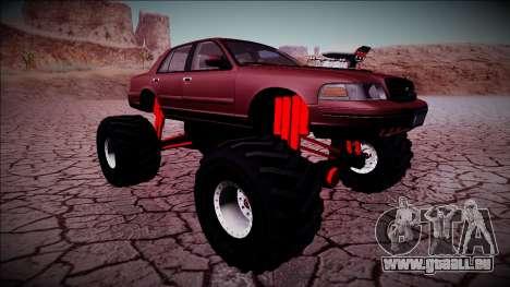 2003 Ford Crown Victoria Monster Truck für GTA San Andreas Unteransicht