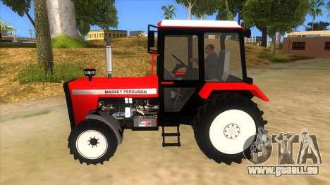 Massley Ferguson Tractor pour GTA San Andreas laissé vue