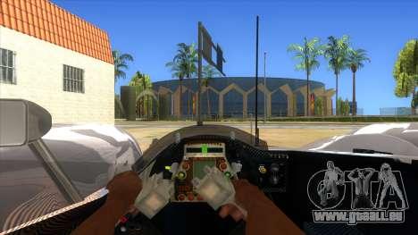Audi R10 pour GTA San Andreas vue intérieure
