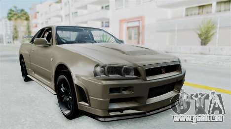 Nissan Skyline GT-R R34 2002 F&F4 Damage Parts pour GTA San Andreas