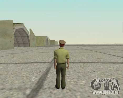 Officier des forces armées de la Fédération de r pour GTA San Andreas troisième écran