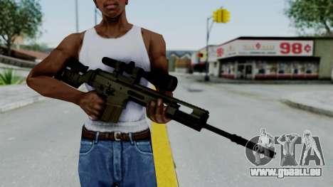 SCAR-20 v2 No Supressor für GTA San Andreas dritten Screenshot