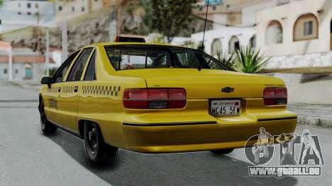 Chevrolet Caprice 1991 Taxi pour GTA San Andreas laissé vue