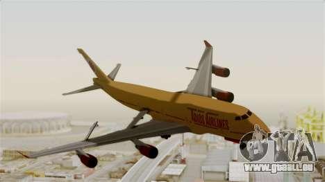GTA 5 Jumbo Jet v1.0 Adios Airlines pour GTA San Andreas sur la vue arrière gauche