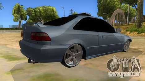 Honda Civic Coupe 1995 pour GTA San Andreas vue de droite