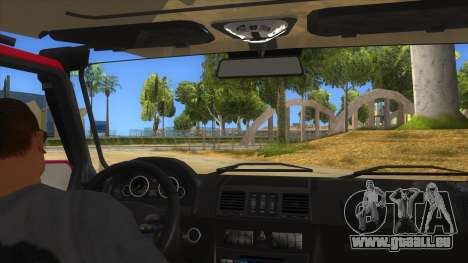 Mercedes-Benz G500 Off Road V3.0 für GTA San Andreas Innenansicht