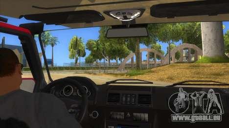 Mercedes-Benz G500 Off Road V3.0 für GTA San Andreas Innenansicht