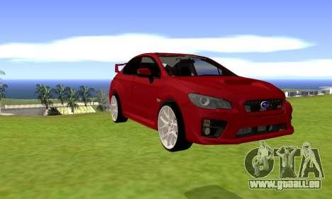 Subaru WRX STI 2015 pour GTA San Andreas laissé vue