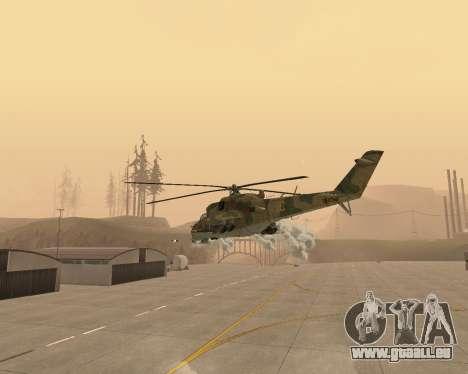 Un Mi-24 Au Crocodile pour GTA San Andreas vue de côté