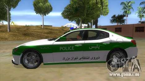 Maserati Iranian Police für GTA San Andreas linke Ansicht