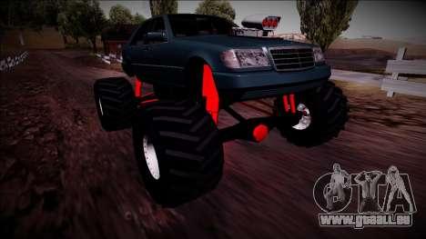 Mercedes-Benz W140 Monster Truck pour GTA San Andreas vue de dessous