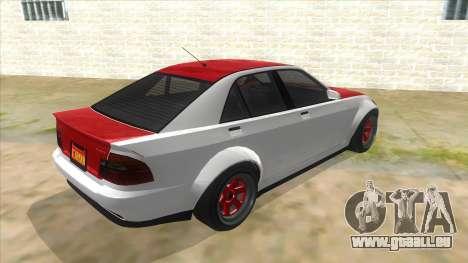 GTA V Karin Sultan RS 4 Door pour GTA San Andreas vue de droite