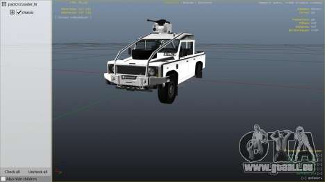 Land Rover 110 Pickup Armoured pour GTA 5