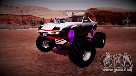 GTA 5 Imponte Ruiner Monster Truck für GTA San Andreas Seitenansicht