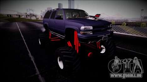 2003 Chevrolet Suburban Monster Truck für GTA San Andreas rechten Ansicht
