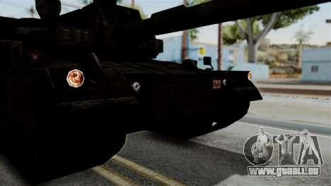 Point Blank Black Panther Rusty IVF für GTA San Andreas Rückansicht