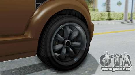 GTA 5 Vapid Radius für GTA San Andreas zurück linke Ansicht