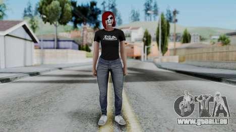 Female Skin 2 from GTA 5 Online pour GTA San Andreas deuxième écran