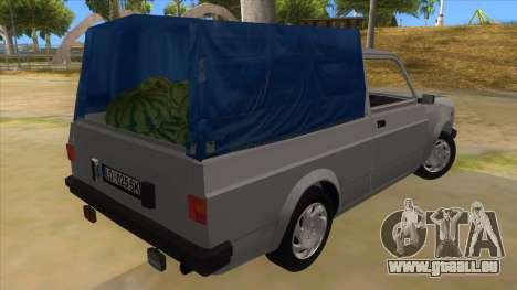 Zastava Poly 1.3 pour GTA San Andreas vue de droite