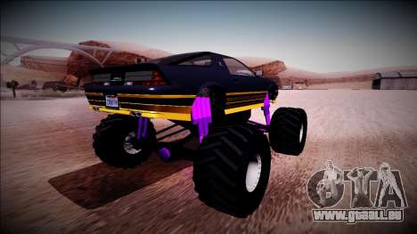 GTA 5 Imponte Ruiner Monster Truck für GTA San Andreas zurück linke Ansicht