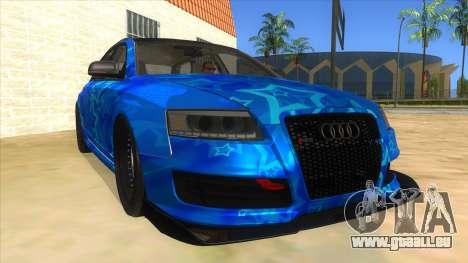 Audi RS6 Blue Star Badgged für GTA San Andreas Rückansicht