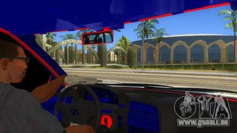 VAZ 2112 Hobo pour GTA San Andreas vue intérieure