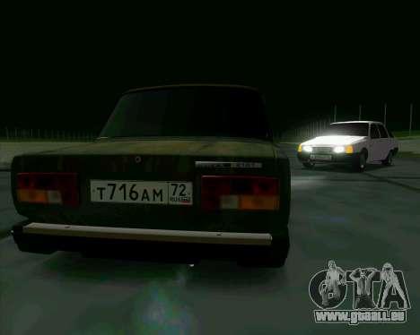 VAZ 2107 Hobo pour GTA San Andreas vue de droite