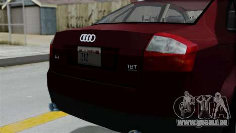 Audi A4 pour GTA San Andreas vue arrière