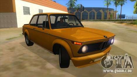 1974 BMW 2002 turbo v1.1 pour GTA San Andreas vue arrière