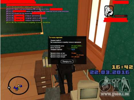 Le jeu de rôle emplois pour GTA San Andreas deuxième écran