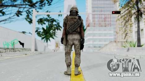 Crysis 2 US Soldier 1 Bodygroup B pour GTA San Andreas troisième écran