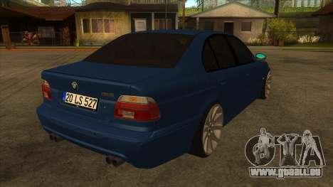 BMW M5 e39 pour GTA San Andreas vue de droite