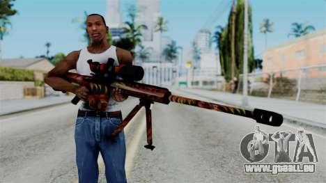 Barret 50.cal Phoenix pour GTA San Andreas troisième écran