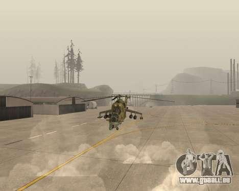 Un Mi-24 Au Crocodile pour GTA San Andreas vue arrière
