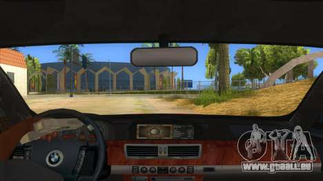 BMW 760 LI pour GTA San Andreas vue intérieure