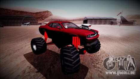 2009 Dodge Challenger SRT8 Monster Truck für GTA San Andreas Innenansicht